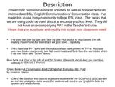 ESL PowerPoint Lesson:  Conversations & Idioms (5a)