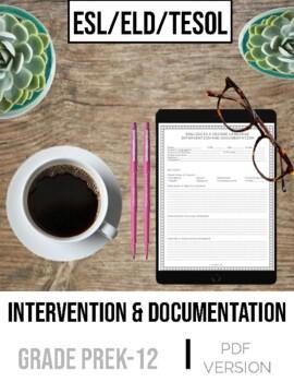 ESL Pre-Referral Intervention and Documentation