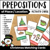 ESL Preposition Card Match - Christmas Theme