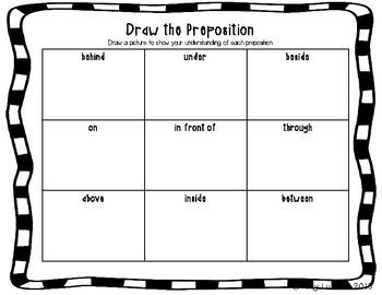 ESL Preposition Vocabulary Activities