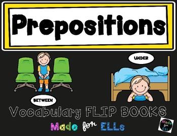 ESL Preposition Vocabulary Flip Books