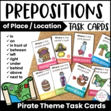ESL Prepositions Autumn Card Match