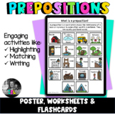 ESL Prepositions - Posters, Flashcards, Worksheets & Activities