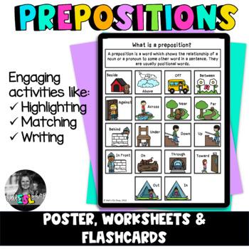 ESL Prepositions - Posters, Flashcards, Worksheets & Activities