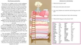 ESL Princess and the Pea Short Story Worksheet (Hebrew)