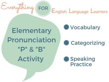 "ESL Pronunciation ""P"" and ""B"""