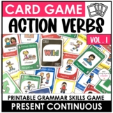 ESL - Question Card Game - Present Continuous Action Verbs