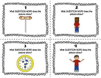 ESL Question Word Task Cards