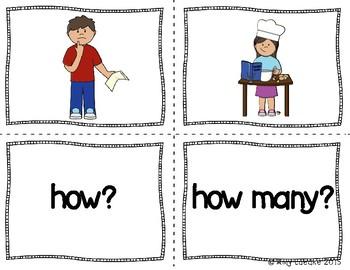 ESL Question Word Vocabulary Activities