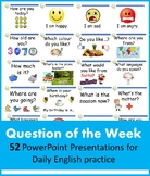 ESL Question of the Week Bundle (52 PPTs Beginner Level English)