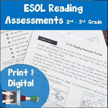 ESL Reading Assessments Second and Third Grade