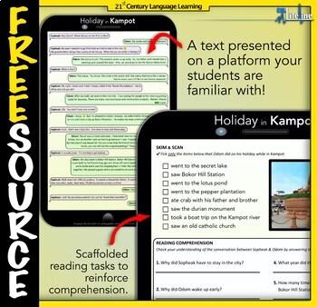 English Reading Lesson – Holiday in Kampot, Cambodia (Secondary)