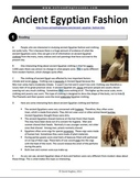 ESL Reading Practice: Ancient Egyptian Fashion