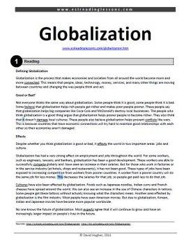 ESL Reading Practice: Globalization