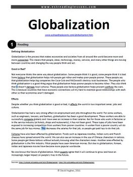 ESL Reading Practice: Globalization