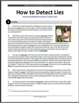 ESL Reading Practice: How to Detect Lies