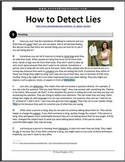 ESL Reading Practice: How to Detect Lies