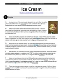 ESL Reading Practice: Ice Cream