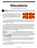 ESL Reading Practice: Macedonia