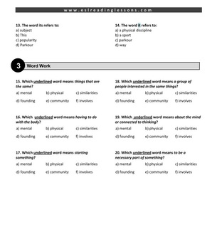 ESL Reading Practice: Parkour