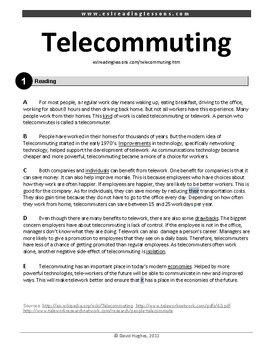 ESL Reading Practice: Telecommuting