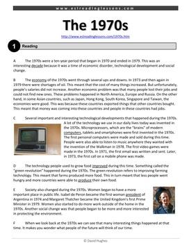 ESL Reading Practice: The 1970s