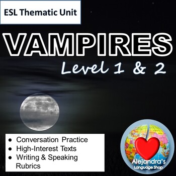 ESL Reading Practice for Beginners:  The Unhappy Vampire