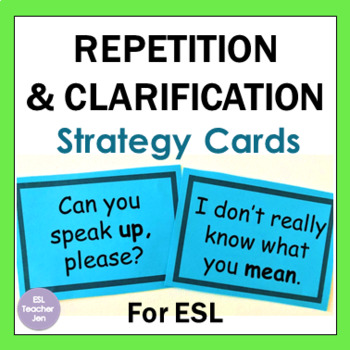 ESL Repetition and Clarification Strategies