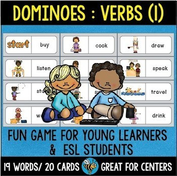 ESL Resources: Basic Verbs Domino Game (set 1)