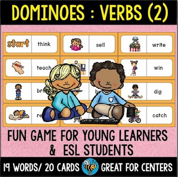 Early Finishers Activity | Dominoes: Verbs (set 2)