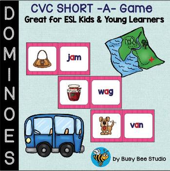 ESL Resources: CVC short a Domino Game