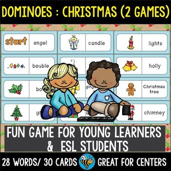 Early Finishers Activity | Dominoes: Christmas (2 Games)
