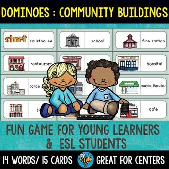 ESL Resources: Community Buildings Domino Game