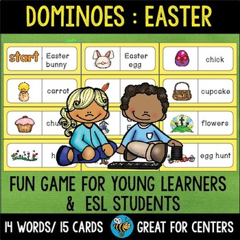 ESL Resources: Easter Words Domino Game