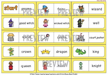 Early Finishers Activity | Dominoes: Fairy Tale Words
