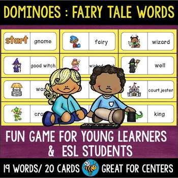 ESL Resources: Fairy Tale Words Domino Game