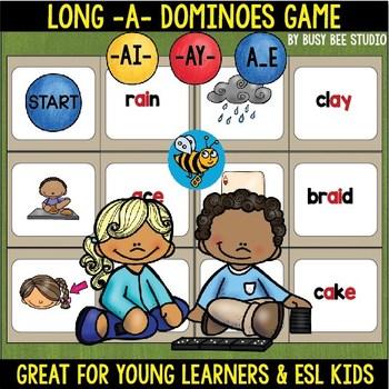 Long A Game: (ai, ay, a_e) Dominoes