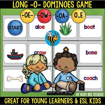 Long O Game: Dominoes (ow, oe, oa,o_e)