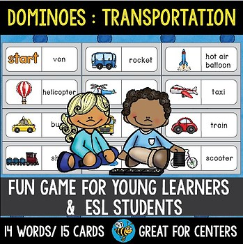 Early Finishers Activity | Dominoes: Transportation Words