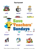 ESL Restaurant Worksheets, Games, Activities and Flash Cards (with audio)