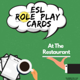 ESL Role Play Cards - 'At The Restaurant' | ESL Speaking Activities