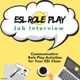 ESL Role Play Lesson - Job Interview | ESL Speaking Activities (Digital/ Online)