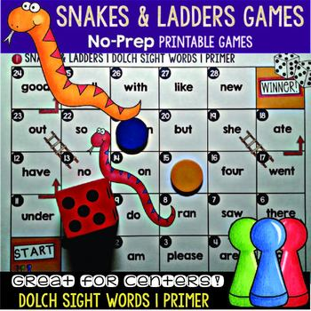 Sight Words Game: SNAKES AND LADDERS