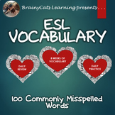 ESL, SPED, Gen ED Vocabulary:  100 Commonly Misspelled Words