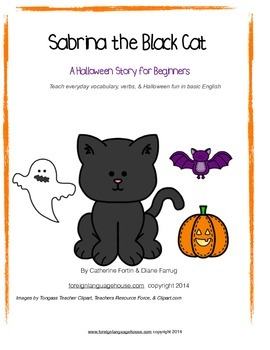 ESL Sabrina the Black Cat Halloween Story