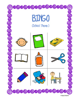 ESL School Supplies BINGO