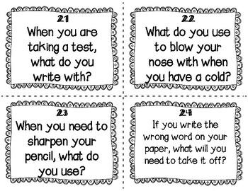 ESL School Task Cards