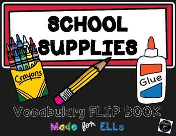 ESL School Vocabulary Flip Books