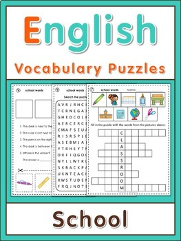 ESL Vocabulary Puzzles  School