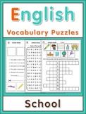 ESL Vocabulary Puzzles  School